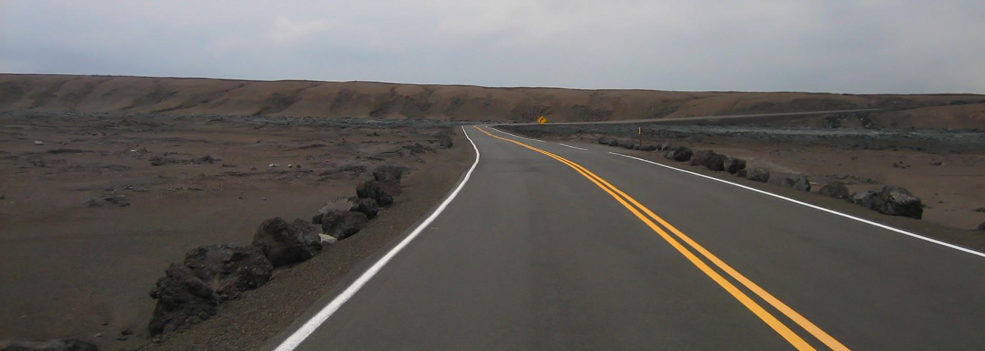 Wie ich den Volcano Park von Big Island auf einem Pick-up entlang fuhr