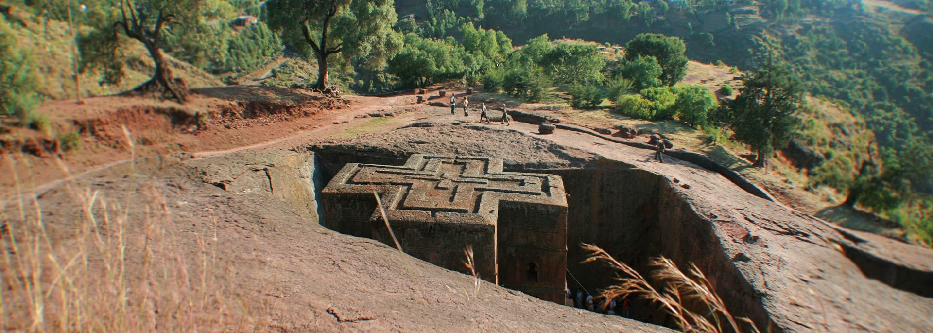 Lalibelas Felsenkirchen hinterlassen viele Eindrücke