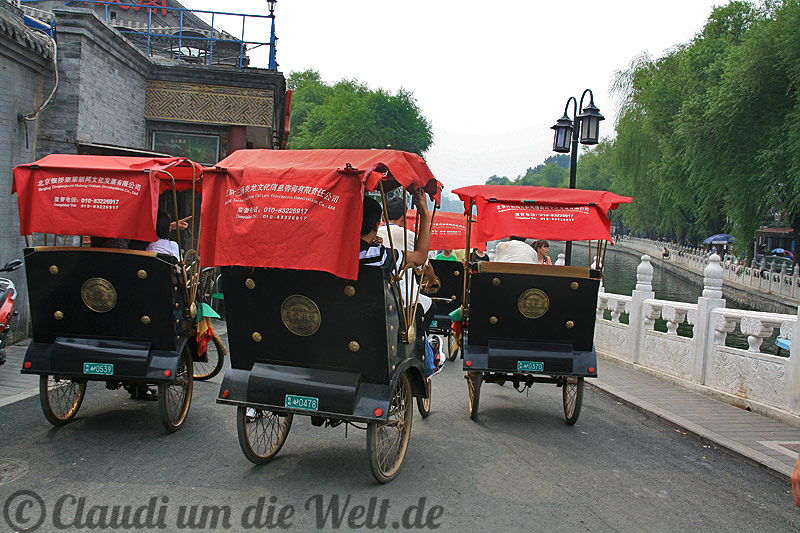 Rikshaws in Peking