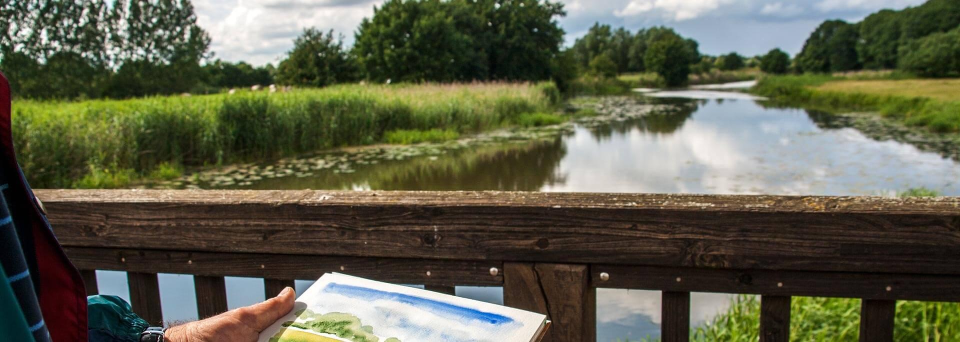 Wie ich in Brandenburg mein erstes Aquarell malte