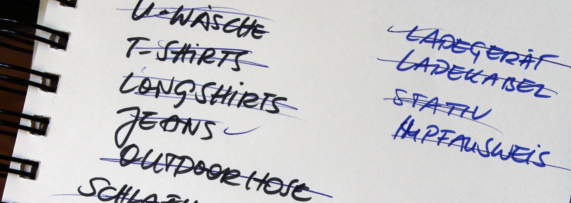 Packliste schreiben: Eine Anleitung für stolze Selbermacher