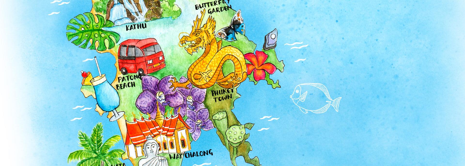 Kalender Illustrierte Inseln 2017 – Juni: Phuket