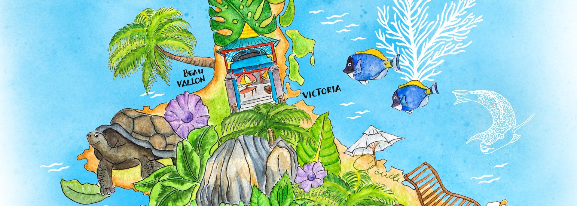 Kalender Illustrierte Inseln 2017 – Mai: Seychellen-Insel Mahé