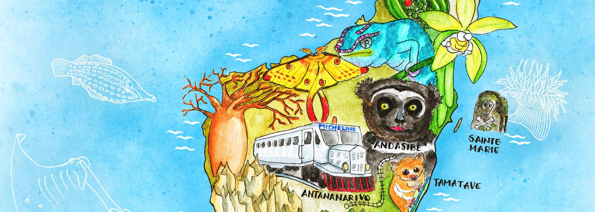 Kalender Illustrierte Inseln 2017 – März: Madagaskar