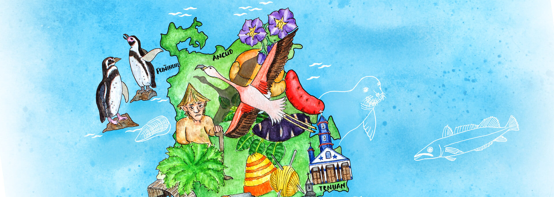 Kalender Illustrierte Inseln 2017 – Oktober: Chiloé